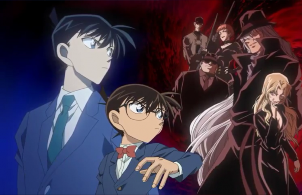 Shinichi, Conan, and BO in Detective Conan M13 - The Raven Chaser (2009).png