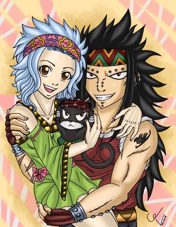 gajeel,levy and lily.jpg