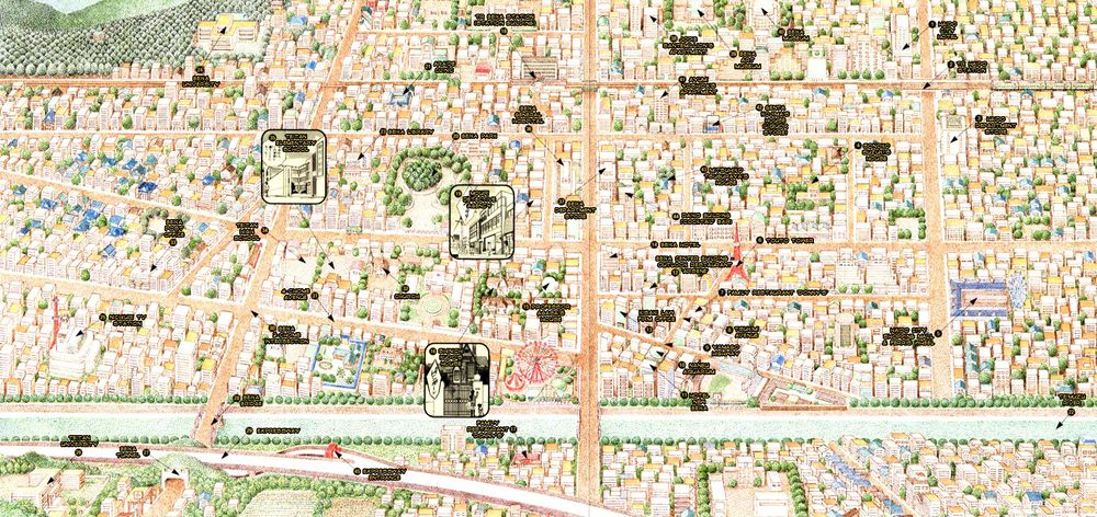 Map of Beika taken from Detective Conan Drill: The Decipherment of Conan. Click to enlarge.